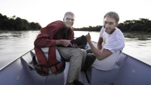 Jan Fleischmann and myself searching for jaguars in Brazil, November 2015.