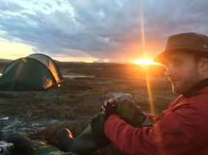 Camping up on Flatruet in Jämtland during the Arctic fox introduction course, June 2016. Photo: Staffan Wallner.