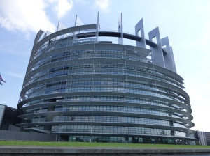 The European Parliament in Strasbourg in France.