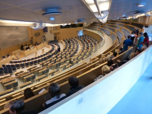 I visited the Swedish Riksdag to learn more about the political game.