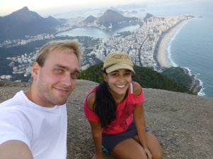 Rio de Janeiro is a spectarular city. In the background is Ipanema beach, which is around the corner to Copacobana.