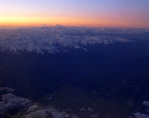 Approaching the Andes from Brazil.
