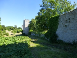 The medieval wall of Visby is for the most part intact.