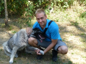 Visiting my friends' animal shelter in western Croatia I befriended many of their dogs. Luna (pictured) is one of the most amazing dogs that I have met.